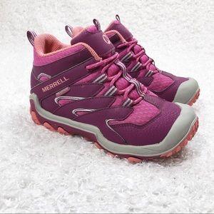 Merrell Pink Waterproof Hiking Boots